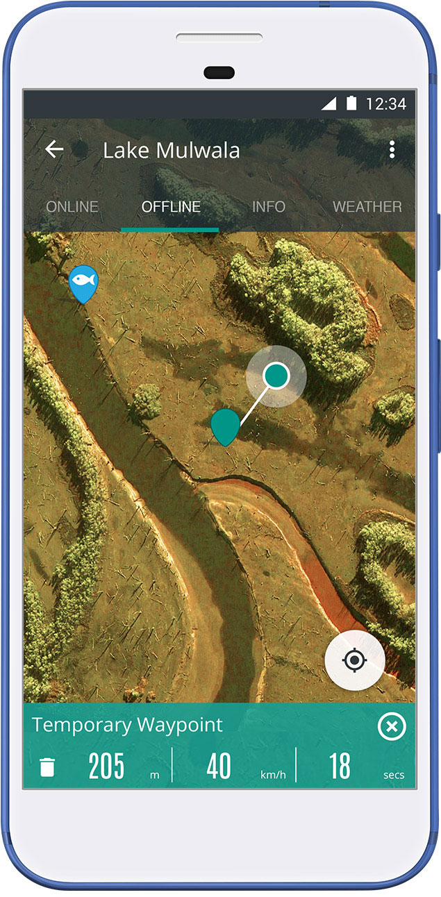 Charted Waters App - Low Water Aerial Imagery