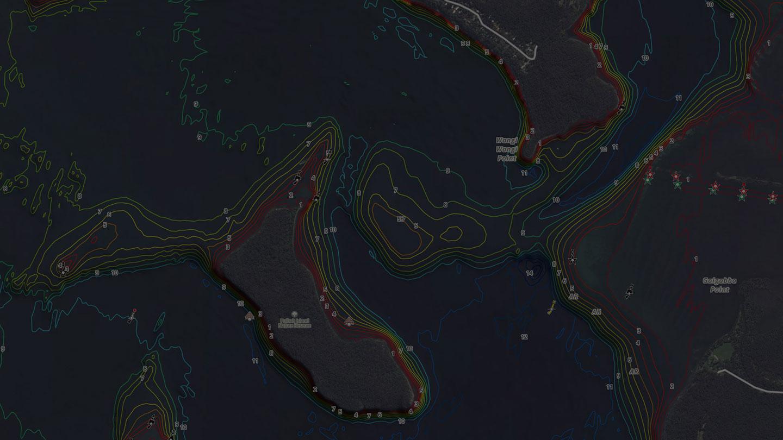 Charted Waters Australian Fishing Maps - NSW & VIC, Coastal & Inland