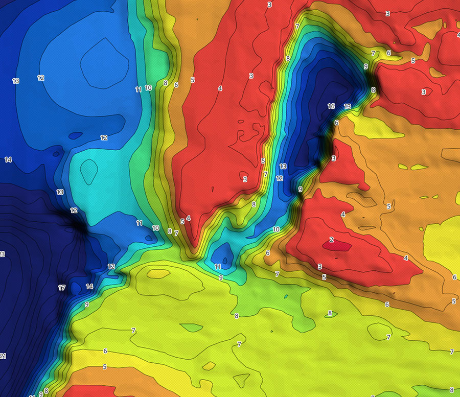 Charted Waters App Bathymetric Imagery