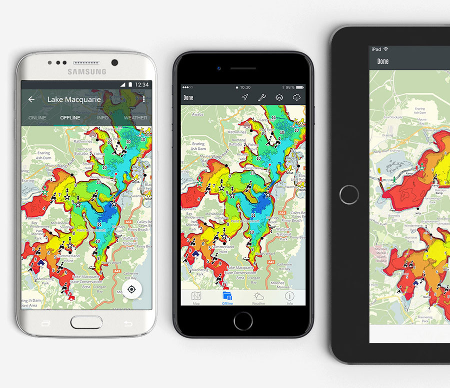 Charted Waters Australian Fishing Maps App