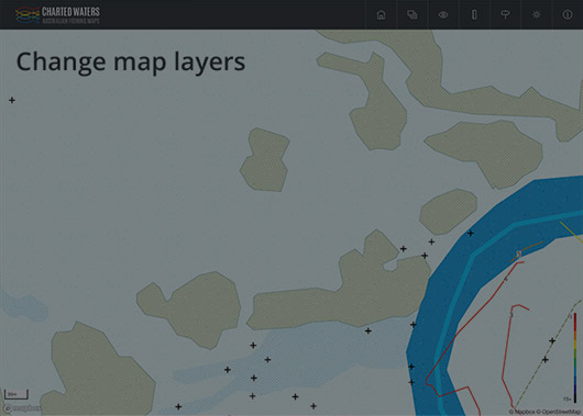 Hide or show map layers