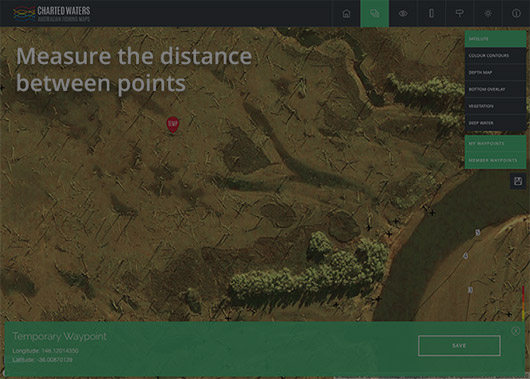 Calculate distance between points