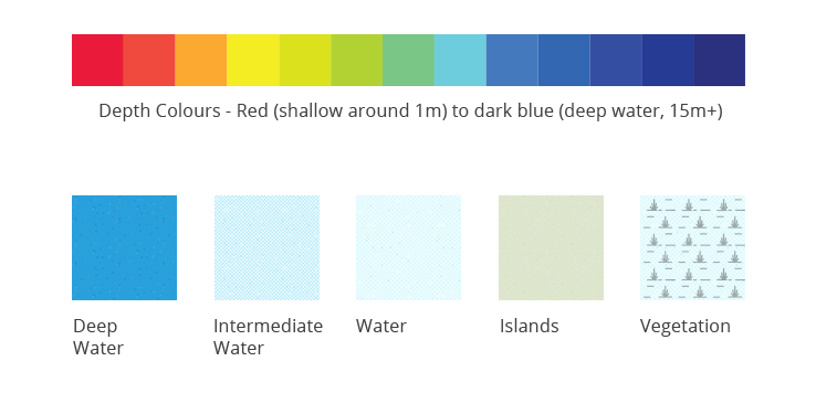 Charted Waters Map Colours