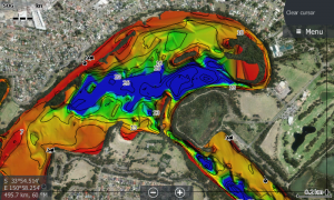 3D Bottom Mapping Sounder View, quickly find those areas of interest. Red is shallow through to Dark Blue showing Deep Water