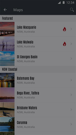 Add a map to your favourites