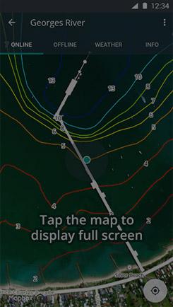 Display map fullscreen